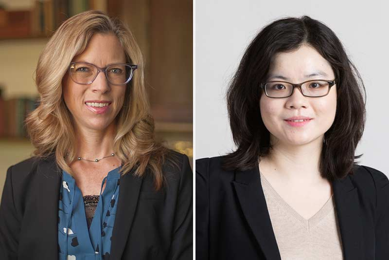 Michelle Amazeen, assistant professor of mass communication at Boston University College of Communication, and Lei Guo, assistant professor of emerging media studies at Boston University College of Communication