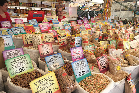 Assortment of nuts and beans for sale