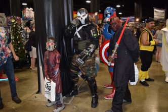 Comic Con fans in costume