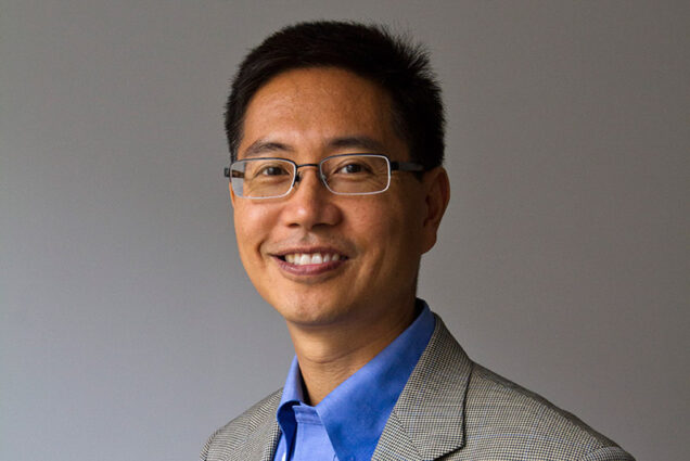 Portrait of Christopher Chen, Boston University Professor of Biomedical Engineering and Director of the Boston University Biological Design Center