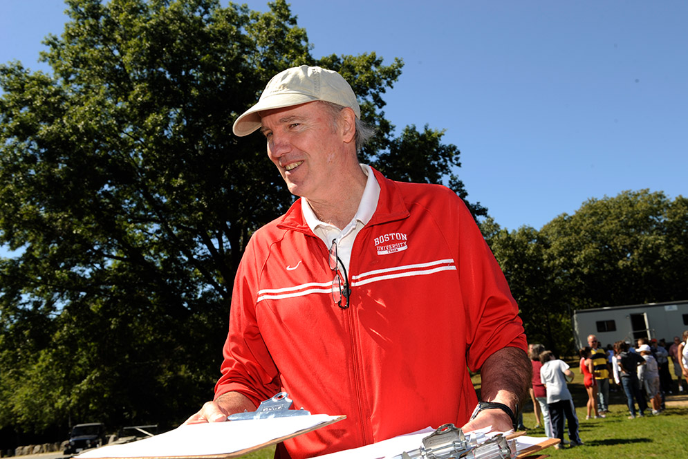 Coach Bruce Lehane had great success with BU teams, but his advice about life off the track was even more important to many of his athletes. Photos courtesy of BU Athletics