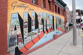 Greetings from Allston Village mural