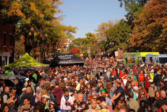 Caption: More than 200,000 people are expected to attend the annual Harvard Square Oktoberfest on Sunday, October 8. Photo courtesy of Bill Manley