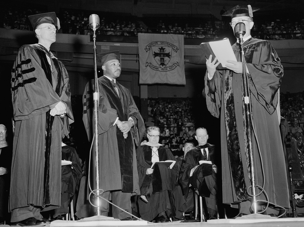Martin Luther King, Jr., receiving an honorary degree