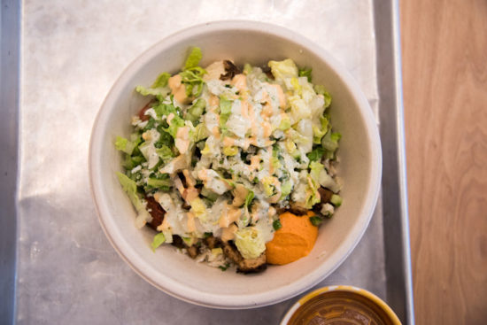 Cava offers grain bowls, greens + grain bowls, salads, soups, and pita sandwiches.