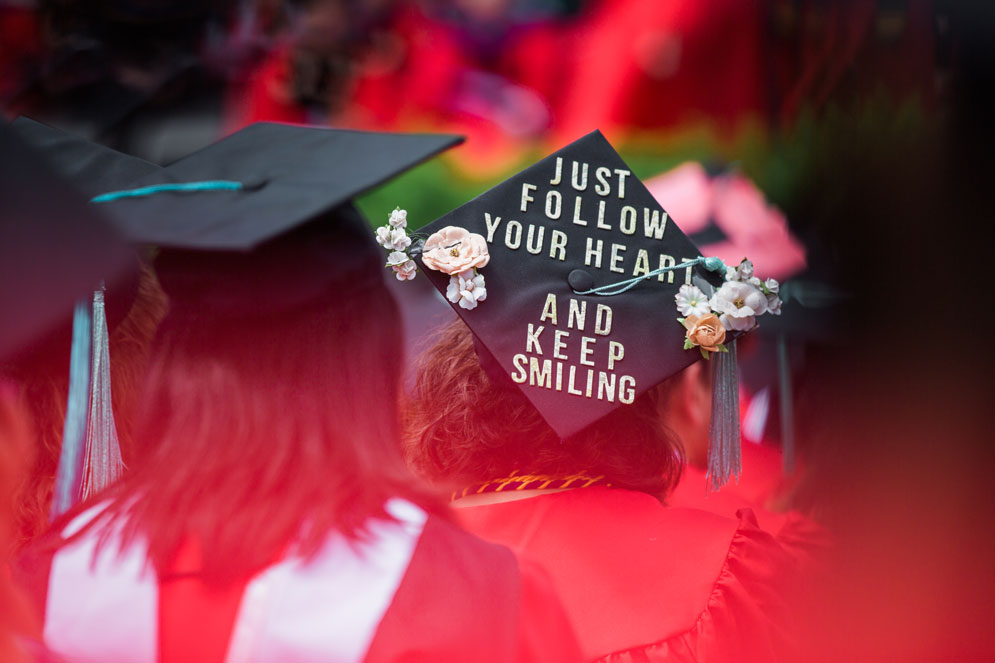 Graduation Cap Designs From Commencement 2018 Bu Today
