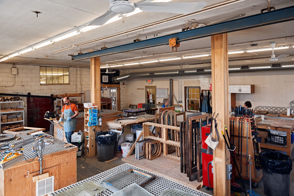 Hardy's 5,000-square-foot workshop