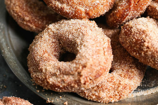 A plate of apple cider donuts