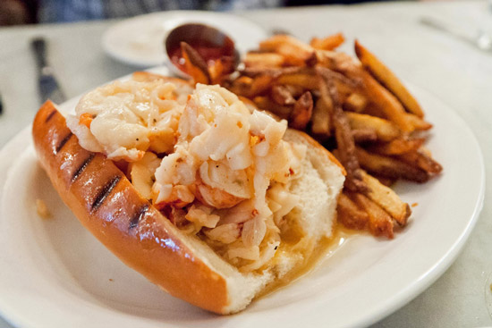 Neptune's famous lobster roll with hot butter.