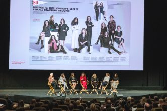 BU women alums in Hollywood's entertainment industry kicked off the October 27 event BU Envisions the Future: The Ideas, People, and Media That Are Changing the World.