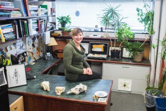 Ann Zumwalt in her office