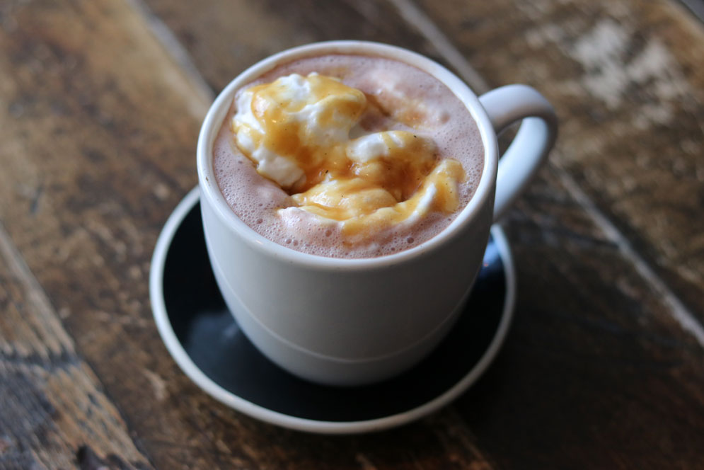 Dairy-free hot chocolate at FoMu