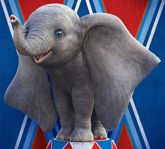 A movie poster featuring Dumbo