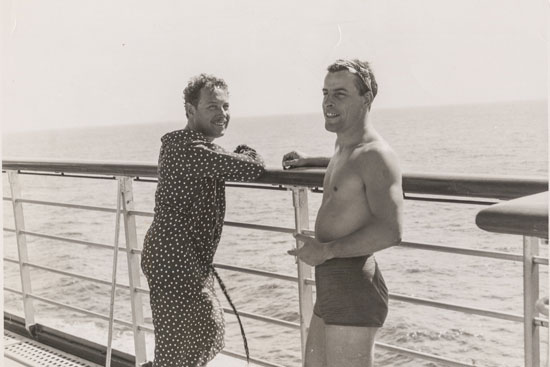 Tennessee Williams and Frank Merlo at a beach