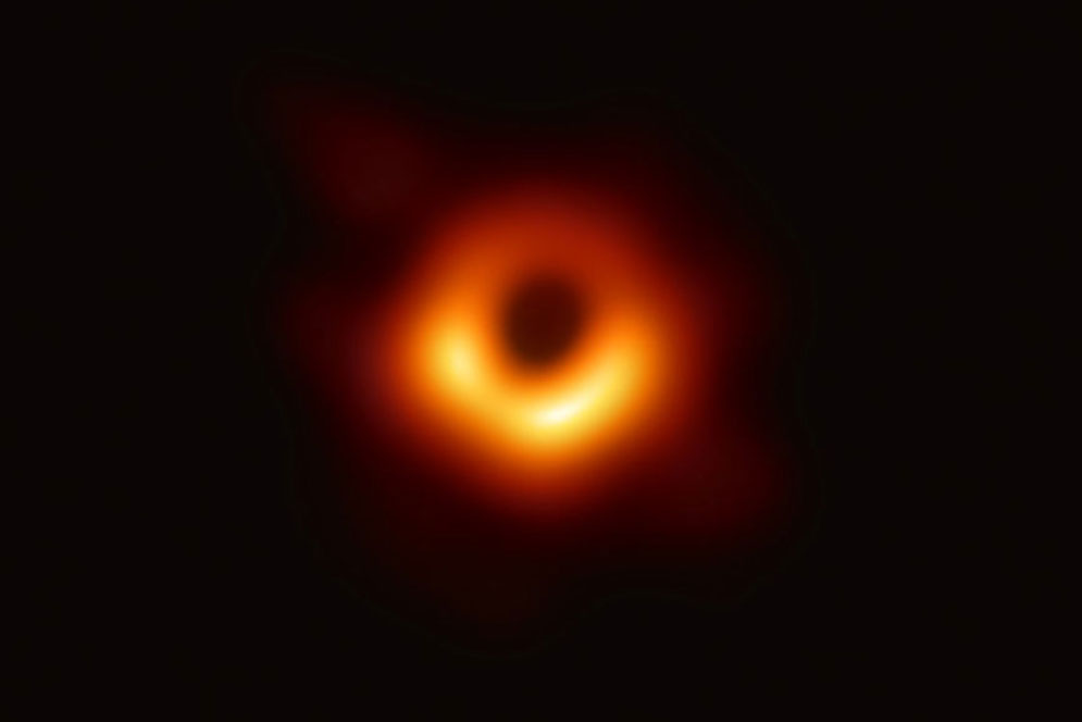 The first direct visual evidence of the supermassive black hole in the center of Messier 87 (M87) and its shadow. The shadow of the black hole seen here is the closest we can come to an image of the black hole itself, a completely dark object from which light cannot escape