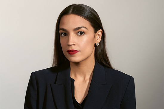Portrait of Alexandria Ocasio-Cortez from Time Magazine's 100 Most Influential People issue in 2019.