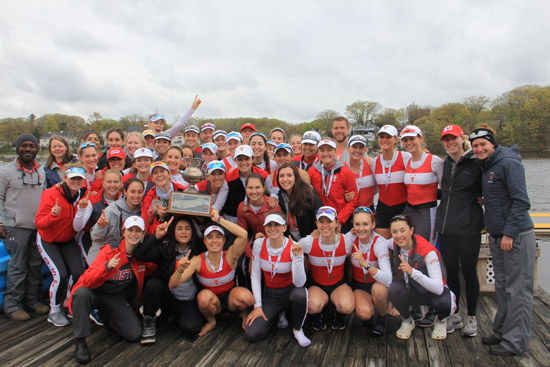 The BU women's lightweight rowing team