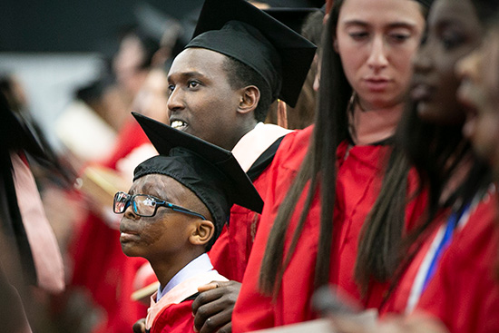 Alex & Leo at the Boston University School of Public Health convocation in 2019.