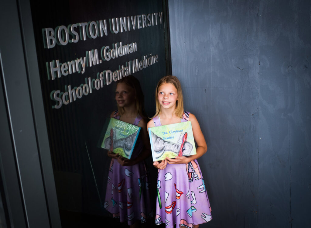 This 11-Year-Old Wants to Go to BU's Goldman School of Dental Medicine: She's Written a Picture Book to Help Pay for It