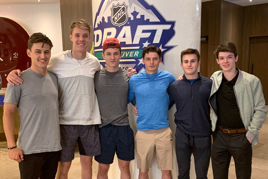 The six terriers drafted to the NHL