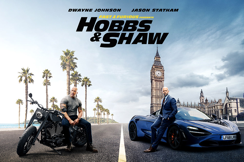 a movie poster from the Fast and the Furious Spin-Off Hobbs & Shaw