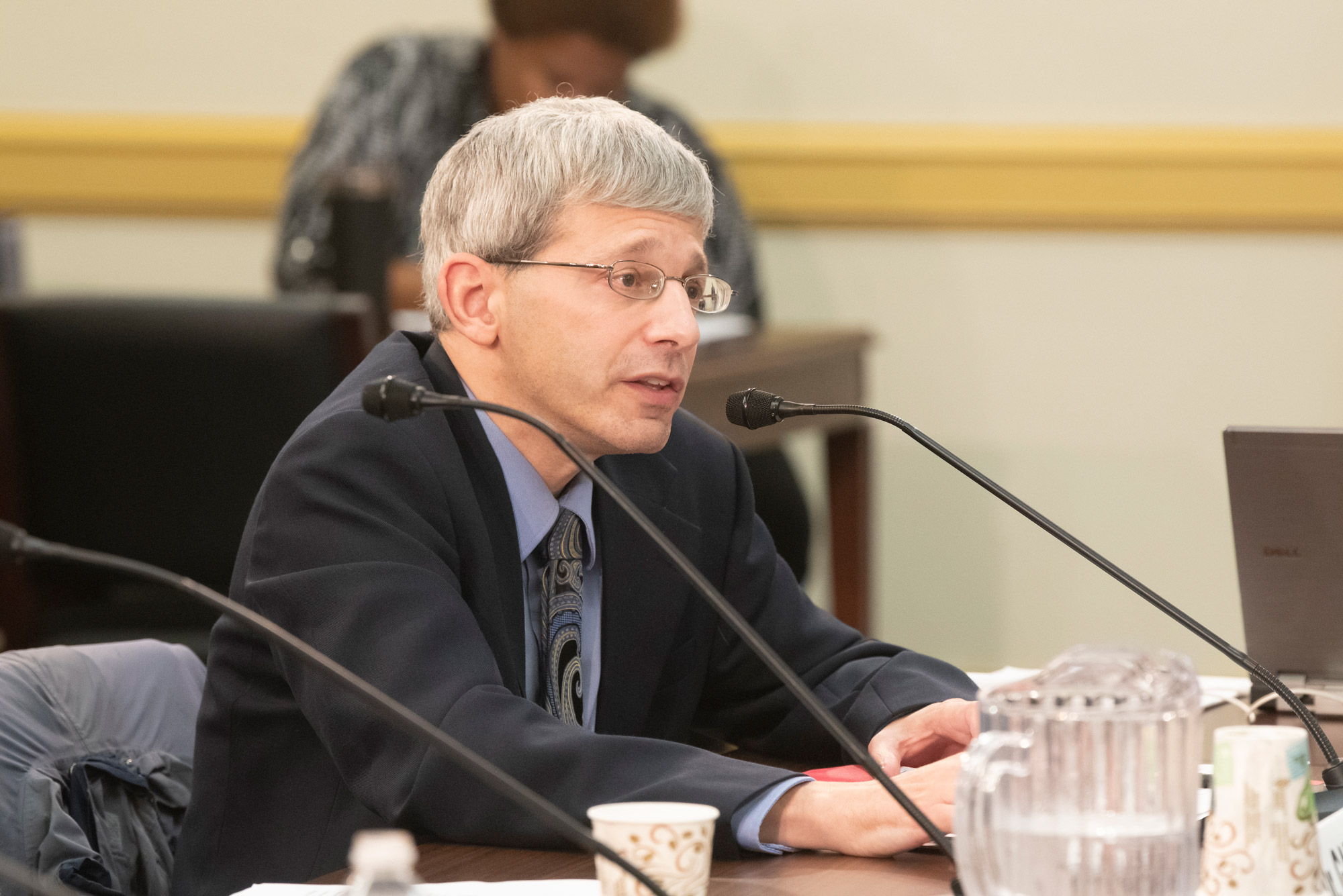 Michael Siegel, a School of Public Health professor of community health sciences, testifying before a legislative hearing of the subcommittee on health of the Committee on Energy & Commerce
