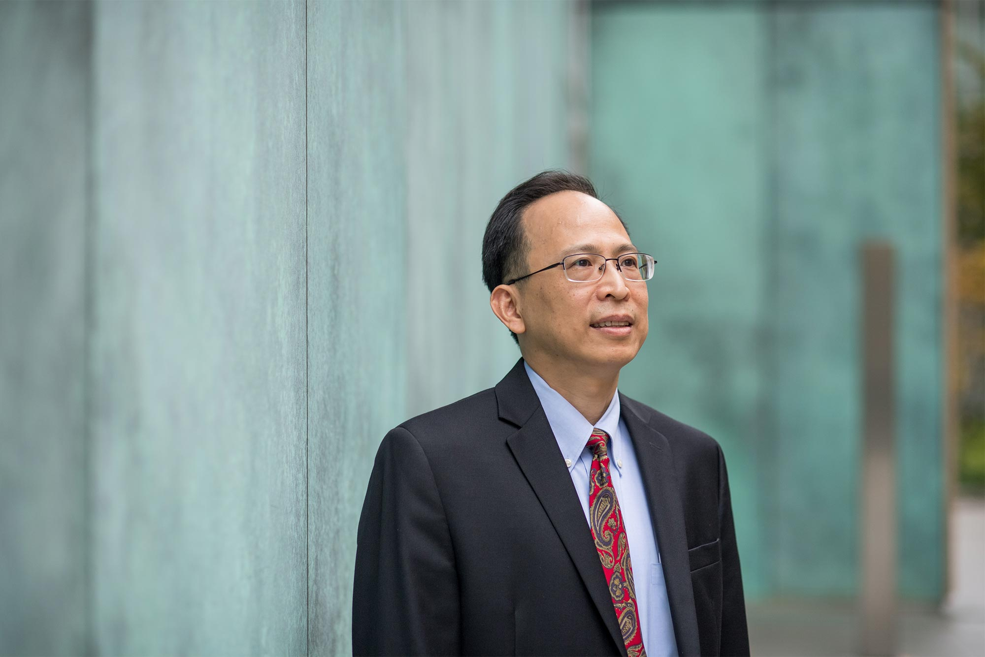 Portrait of 2019 Boston University Innovator of the Year, Weining Lu, Associate Professor of Medicine.