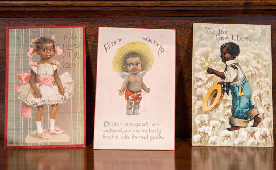 Early 20th-century postcards with caricatures of African Americans