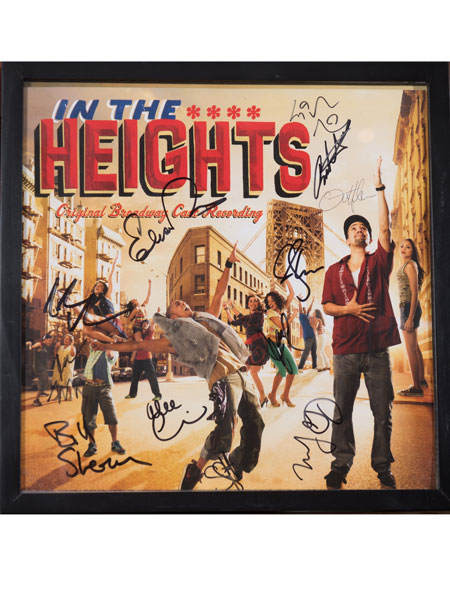 In the Heights signed album cover