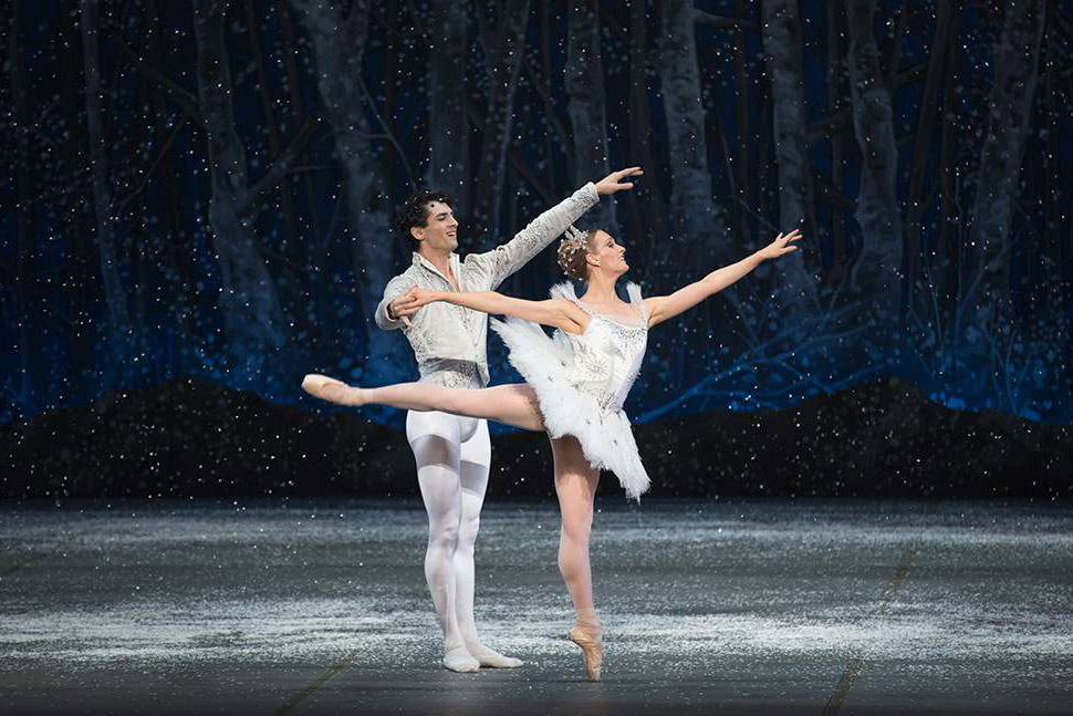 two dancers perform a duet in the nutcracker