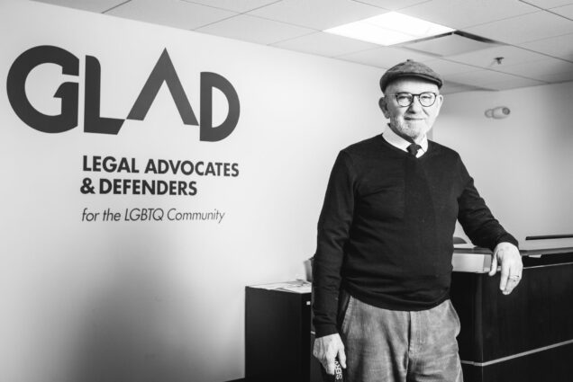 John Ward, founder of GLAD (Gay and Lesbian Advocates and Defenders), poses for a photo