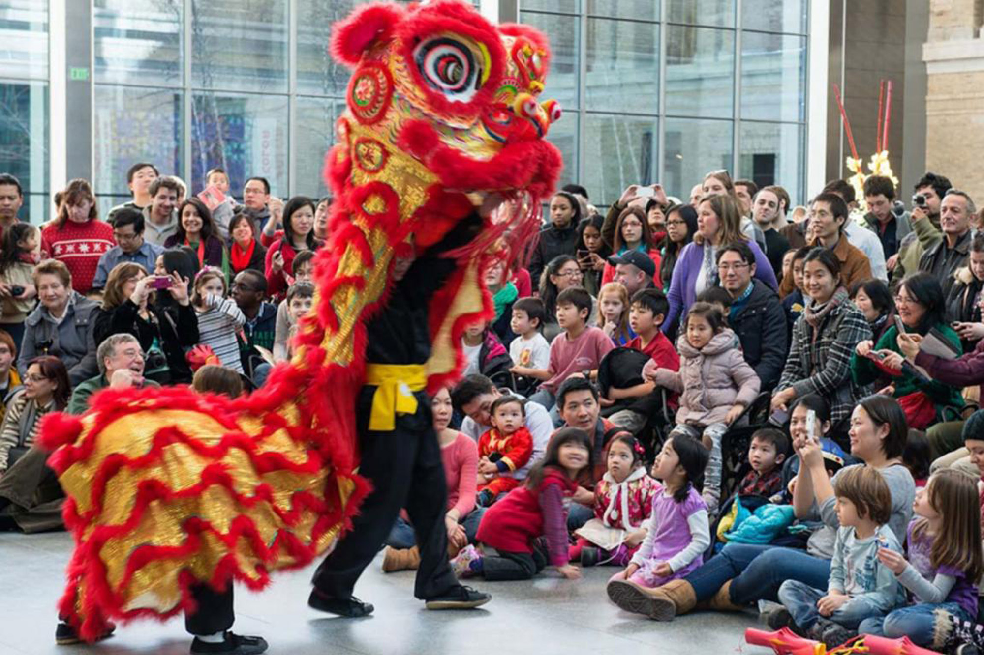 A photo of festivities at the Museum of Fine Arts Lunar New Year Celebration.