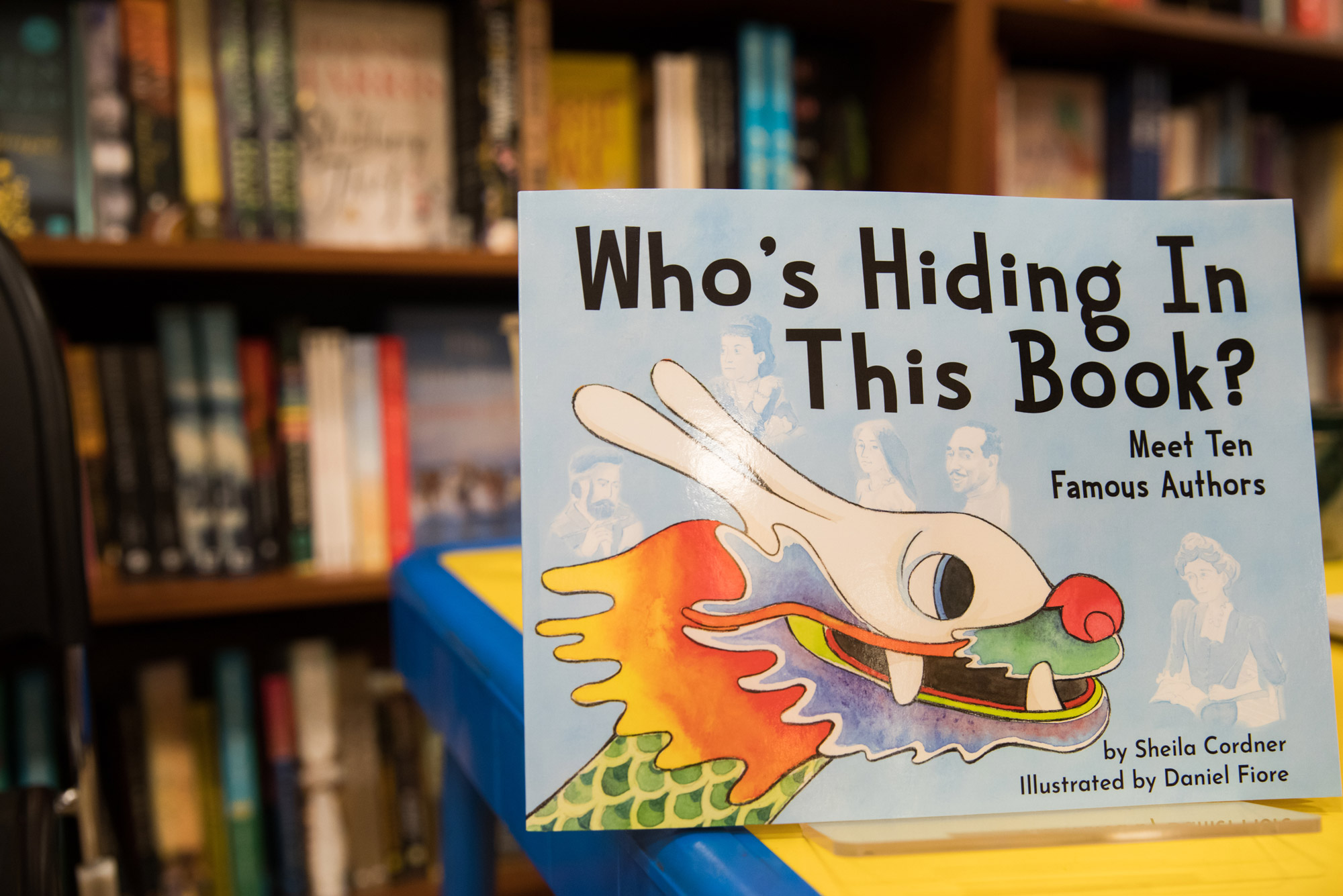 "A photo of the cover of Sheila's Cordner's book ""Who's Hiding in This Book?"""