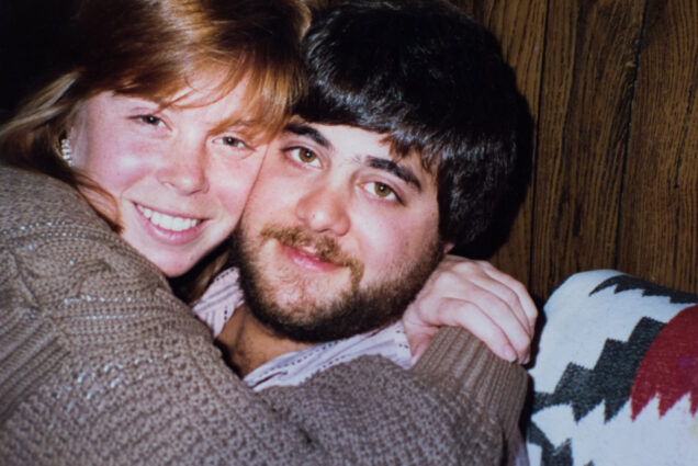 A photo of Anne (Salzberg) Olshan (CAS'89, COM'89) and John Olshan (CGS'87, CAS'89) when they were students at BU