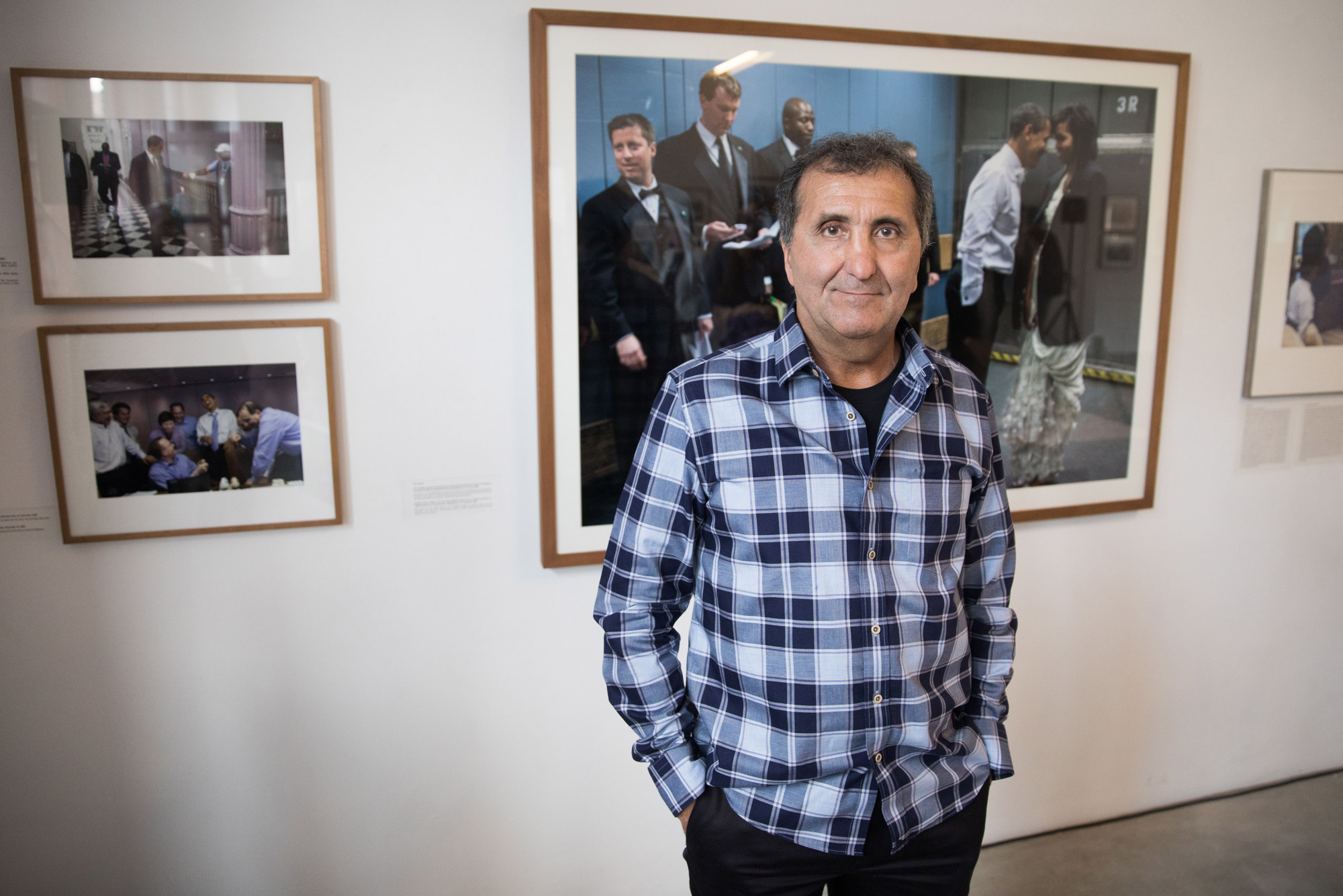 Pete Souza at an exhibit of his photos in Germany in 2018.