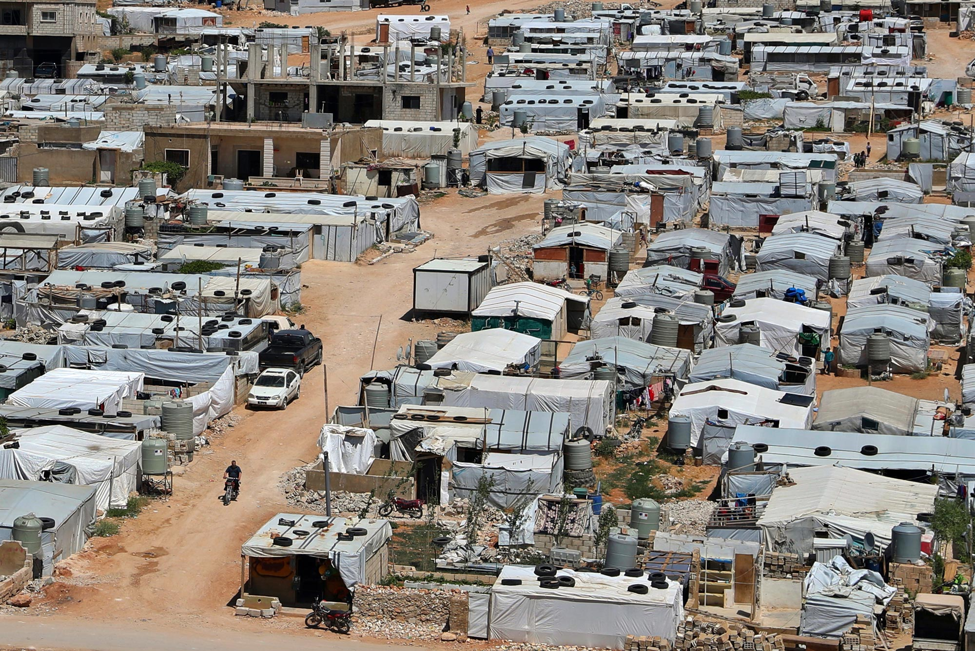 A photo of a refugee camp in Lebanon
