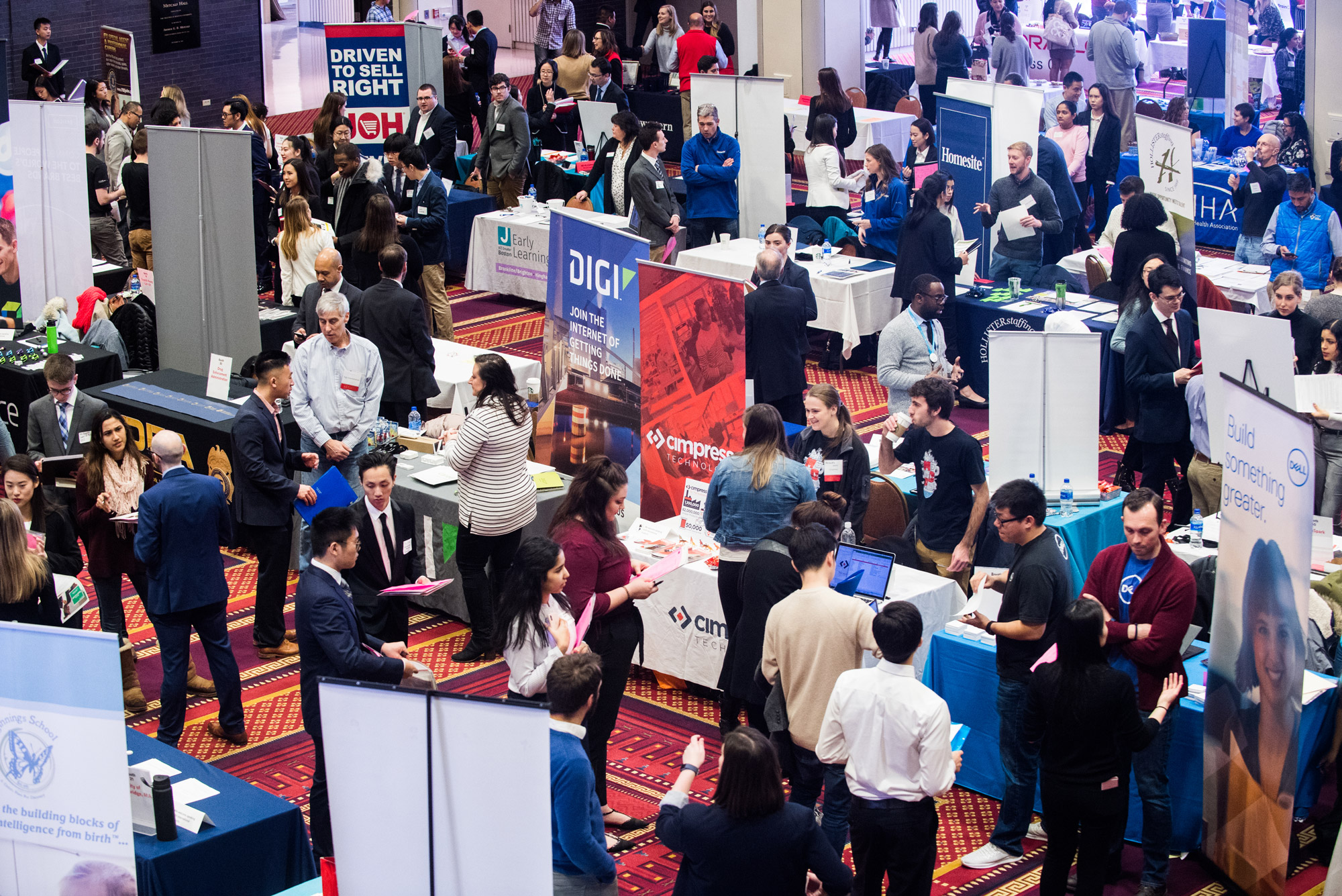 A photo of a career fair at the George Sherman Union
