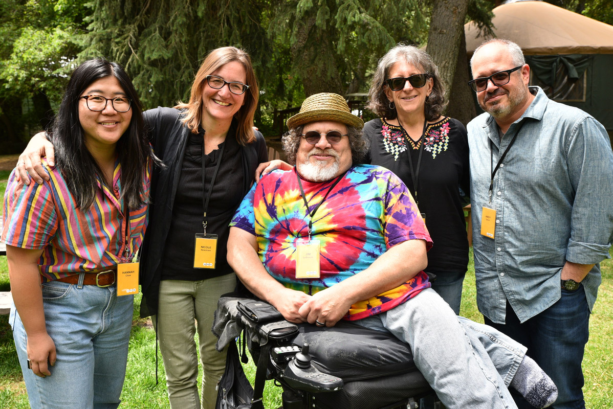 Photo of a Crip Camp creators at Sundance. Photo courtesy of Sundance Institute/ Brandon Cruz