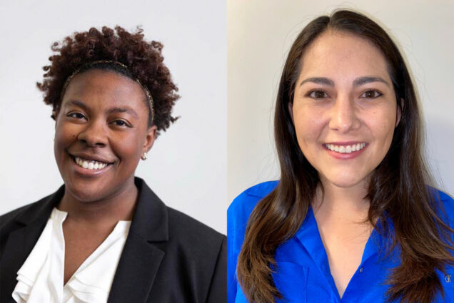 Composite image of Gabrielle Gales (Questrom'20) (left), named Undergraduate Student Employee of the Year, and Maria Narvaez (MED'18,'23). Both were award the Graduate Student Employee of the Year.