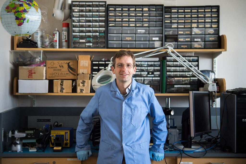 A photo of Brian Walsh in his lab