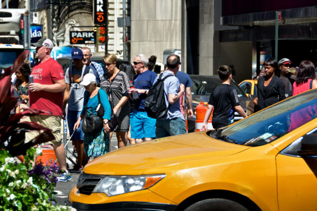 An image of pedestrians in New York City