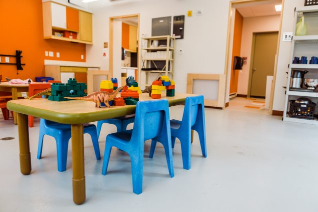 A photo of the new BU Children's Center