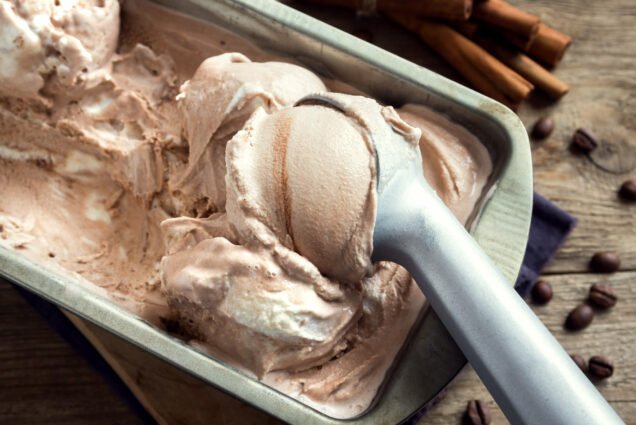 A photo of homemade chocolate no-churn ice cream