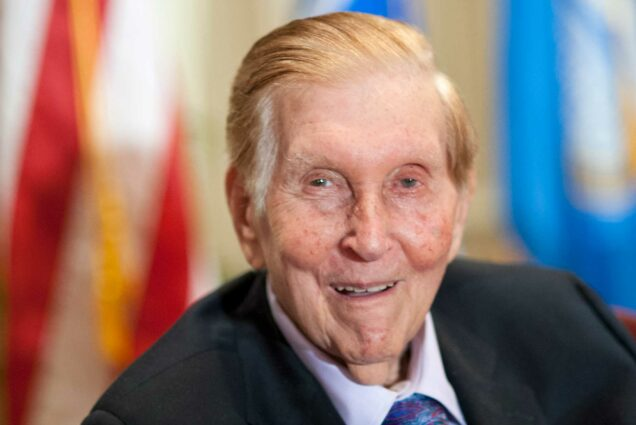 Portrait of Sumner Redstone at a ceremony to announce the naming of the new Sumner M. Redstone LAW Building on Thursday, Sept. 13, 2012