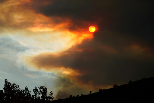 A photo of wildfires in Colorado