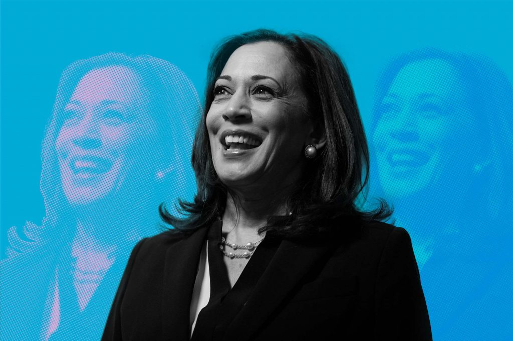 Pop art photo illustration of Vice President-elect Kamala Harris