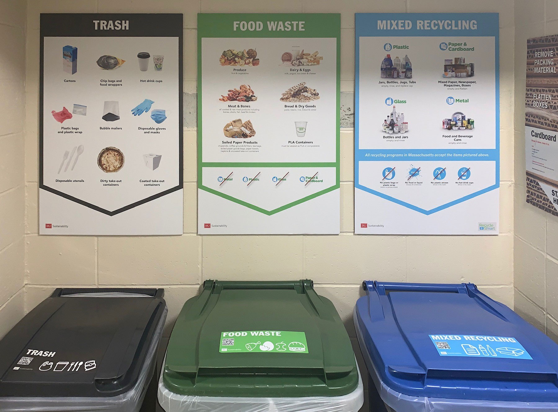 New waste bins in student residences are part of the Zero Waste Plan