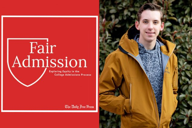 Composite imae featuring Fair Admission podcast logo and photo of Edward Sturm