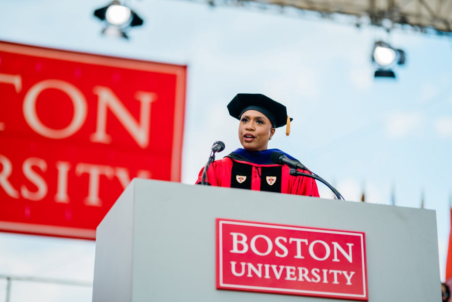 Ayanna Pressley speaks at BU Commencement