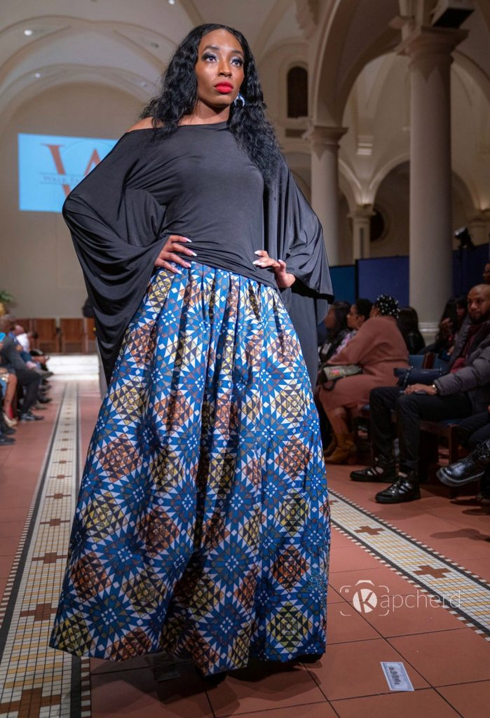 Models styled by Abiola Agoro with her design label Styled by Ola walk the runway during 2020's New York Fashion Week